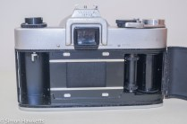 Yashica J-3 35mm slr camera - Rear view with door open