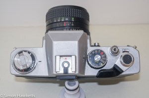 Ricoh Singlex II 35mm Camera - Top of camera control layout