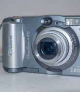 Canon PowerShot A40 - Front view with camera on