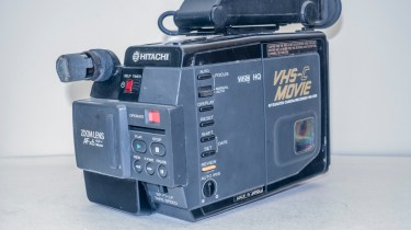 Hitachi VM-C30E VHS-C camcorder - front / side view
