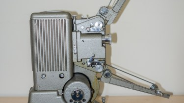Specto 500 8mm cine projector - Film arms raised for projection