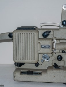Eumig P8m 8mm Silent Projector - Projection arms extended