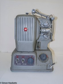 Elmo E-80 8mm projector - Arms folded back