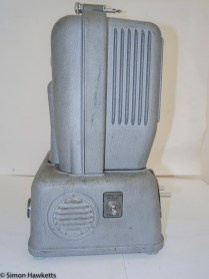 Elmo E-80 8mm projector - Rear view showing forward/reverse switch
