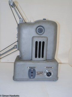 Elmo E-80 8mm projector - Side view with cover on