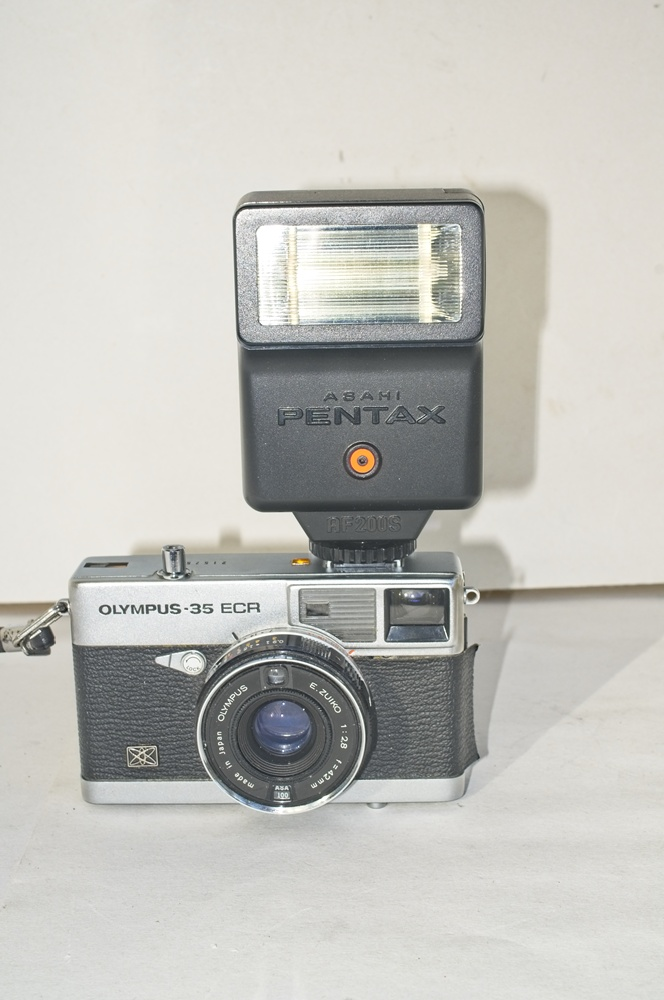 Fitted with Pentax Flash
