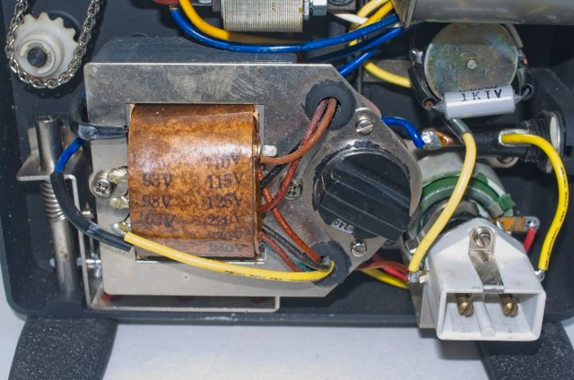 The transformer and voltage setting