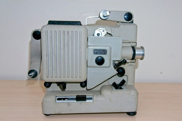 Eumig P8 Automatic 8mm Projector - Unit with arms folded for transport