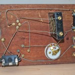 Joseph Baker Single valve radio: Very simple wiring