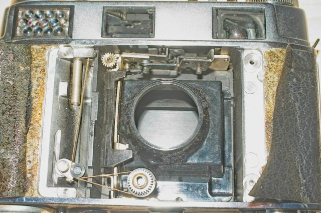Kodak Retina III S with shutter removed