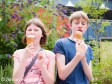 Ricoh GXR sample pictures - Boy and Girl eating icecream