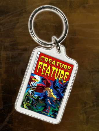 Creature Feature keyring - sure to be a bargain at £1 a shot!
