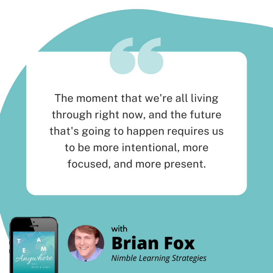 the moment that we're all living through right now and the future thats going to happen requires us to be more intentional, more focused and more present