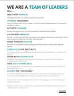 Team Leadership Manifesto