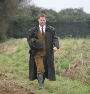 Shooting in England in a Driza-Bone over pommy driven bird clothes, which while slightly silly looking are quite functional.