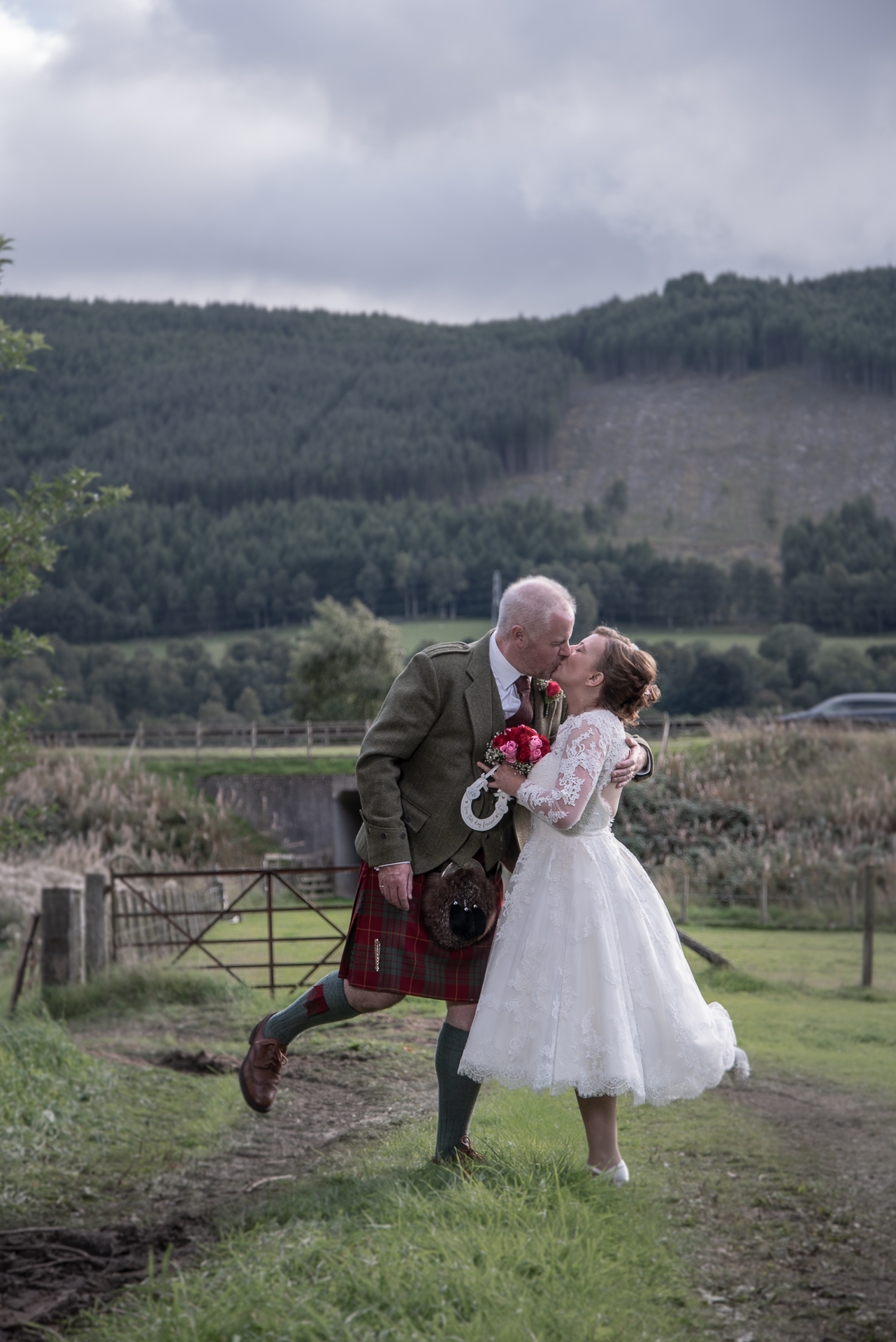 Denise and Scott at East Haugh, Pitlochry