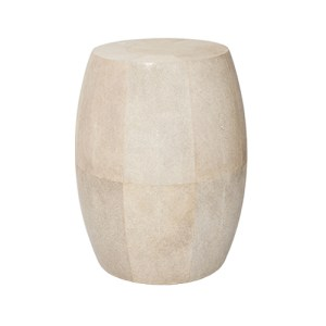 Drum side table in shagreen
