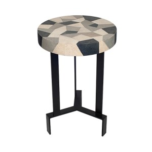 Opie side table in shagreen top