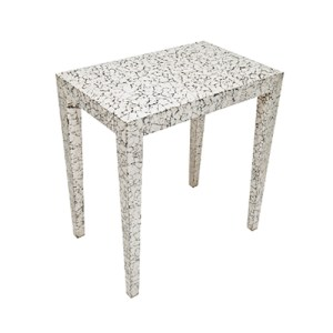 Milan side table in cracked eggshell