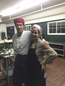 Mara Simons in the kitchen