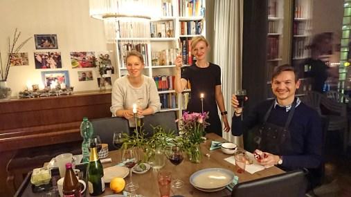 Dinner being prepared