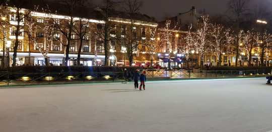 Iceskating in the city center