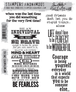 Tim Holtz Cling Rubber Stamps WAY WITH WORDS cms165