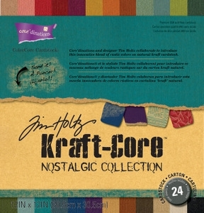Tim Holtz Core'dinations KRAFT CORE NOSTALGIC 12 x 12 Paper Stack GX-1920-00