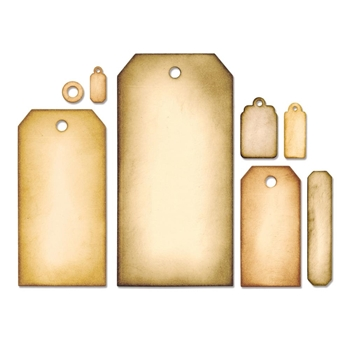 Tim Holtz Sizzix Framelits TAG COLLECTION Wafer Thin Die Set 658784