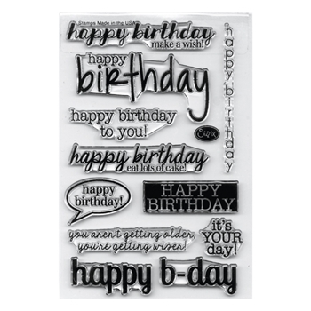 Sizzix Clear Stamps BIRTHDAY 659798