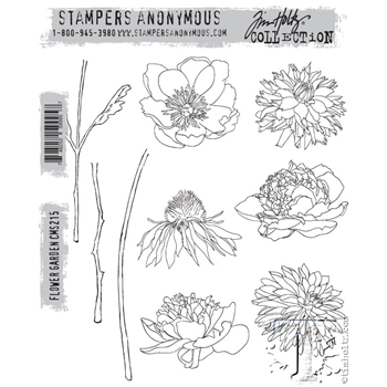 Tim Holtz Cling Rubber Stamps FLOWER GARDEN cms215