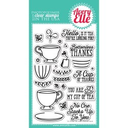 Avery Elle Clear Stamp TEA TIME