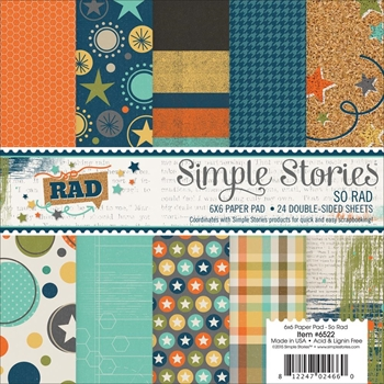 Simple Stories SO RAD 6 x 6 Paper Pack 6522