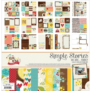 Simple Stories WE ARE FAMILY 12 x 12 Collection Kit 4700