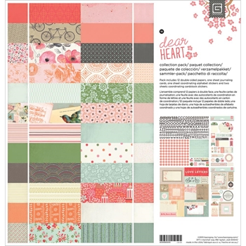 BasicGrey DEAR HEART 12 x 12 Paper Collection Pack CDHT5059
