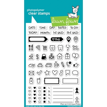 Lawn Fawn PLAN ON IT Clear Stamps LF1129