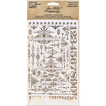 RESERVE Tim Holtz Idea-ology GILDED ACCENTS REMNANT RUBS Findings TH93287