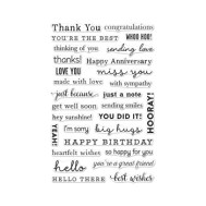Hero Arts Clear Stamps MANY EVERYDAY MESSAGES CL954