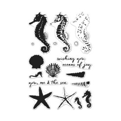 Hero Arts Clear Stamps COLOR LAYERING SEAHORSE CL956