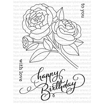 Clearly Besotted TO YOU WITH LOVE Clear Stamp Set