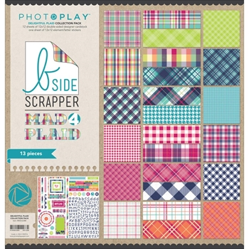 PhotoPlay DELIGHTFUL PLAID 12 x 12 Collection Pack BSD2288