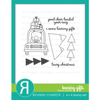 Reverse Confetti BEARING GIFTS Clear Stamp Set