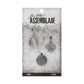 Tim Holtz Assemblage PACK OF 3 LUCKY CHARMS THA20038
