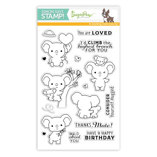 SugarPea Designs Koalaty Time Clear Stamps sss101777 Stamptember Exclusive zoom image