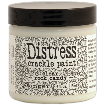 Tim Holtz 4 Oz Crackle Paint ROCK CANDY Distress Clear Ranger TDC31888