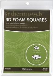 Therm O Web 3D MOUNTING SQUARES White Foam 3777