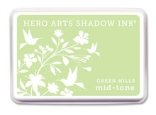 Hero Arts Shadow Ink Pad GREEN HILLS Mid-Tone AF209