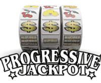 This is a picture of a slot machine, the words on the picture, under the slot machine spell: progressive jackpot. Next to this picture you can read about methods to take advantage of progressive jackpots offered by some slot machines and online slots. The picture also acts as a link, and by clicking on it by your own free will you will be taken to a relevant page where you can learn about advantage gambling methods connected to progressive jackpot slots in casinos, and you can learn about it more there with tutorials and video tutorials and calculators if you so desire.