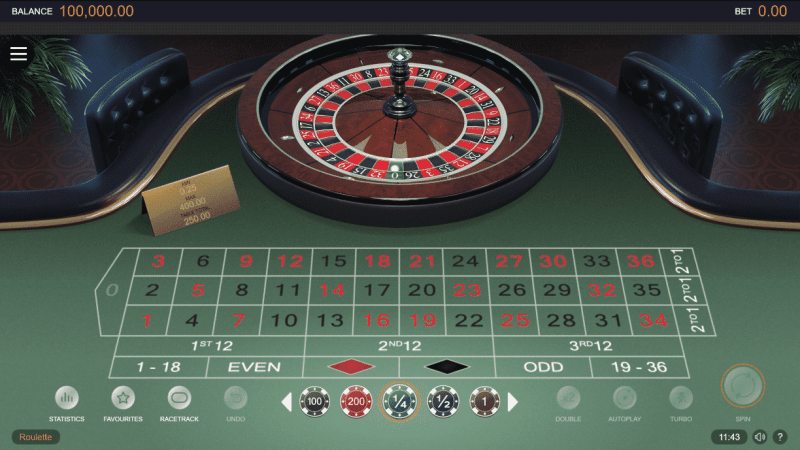 The picture shows you how a European Roulette table and wheel looks like. The picture is the screenshot from the 2019 Switch Studios' (a Microgaming partner) online digital roulette. You can play the game on this webpage or read about the rules and other details of this casino table game under the picture.