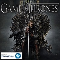 The official logo of Game of Thrones featuring the iron throne from the series. If you click on the picture, you'll be taken to a page, where you can play the Game of Thrones slot